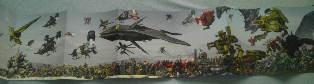 Panoramic poster thing showing Borderlands 2 enemies