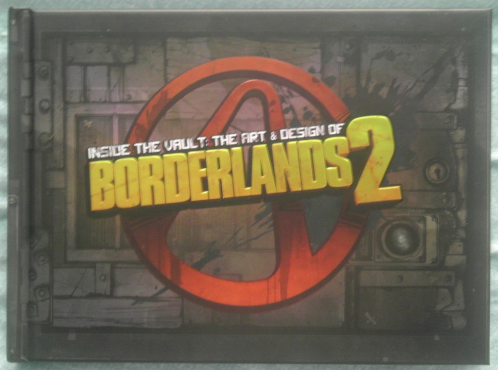 The front cover of the Borderlands 2 art book.